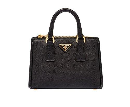 Prada Saffiano Leather Tote Handbag Black