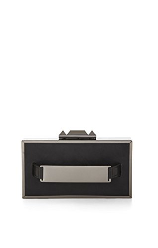 BCBG MAXAZRIA SADIE BOX CLUTCH WITH SIDE HANDLE