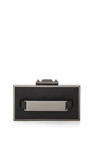 BCBG MAXAZRIA SADIE BOX CLUTCH WITH SIDE HANDLE