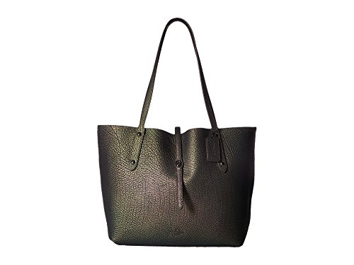 coach market Hologram Leather anytime Purse Turn lock tote Shopper Bag New