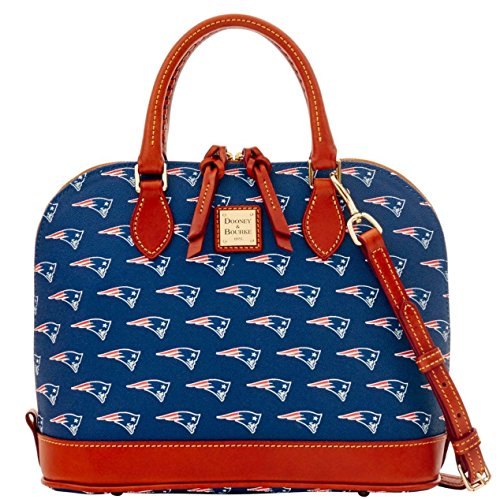 Dooney and Bourke New England Patriots Zip Zip Satchel Handbag