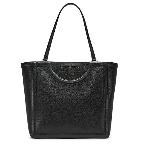 Tory Burch Handbag Serif-t Tote Bag Leather Black