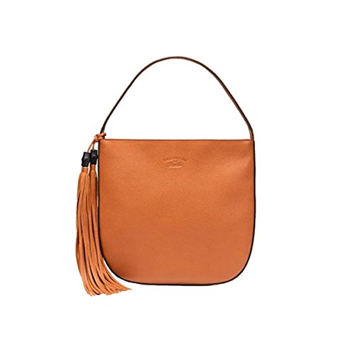 Gucci Lady Tassel Leather Hobo Shoulder Bag 354475, Orange