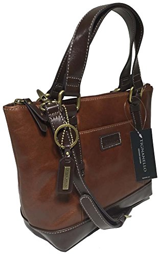 Tignanello Borough Mini Tote, Rust/Dark Brown, T59620A