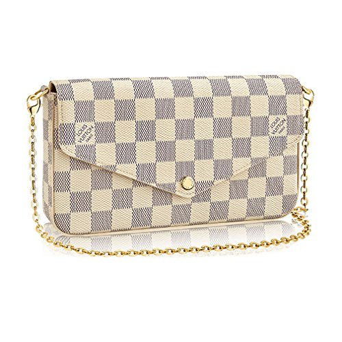 Louis Vuitton Damier Canvas Pochette Felicie Wallets Handbag Clutch Article:N63106