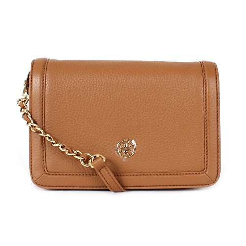Tory Burch Landon Combo Pebbled Leather Crossbody Bark