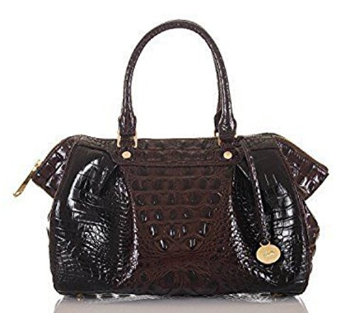 Brahmin Small Faye Cocoa Melbourne Satchel Bag
