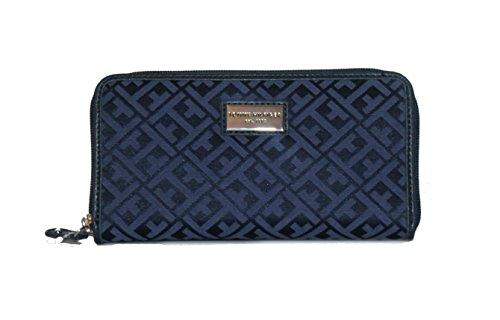 Tommy Hilfiger Monogrammed Zip Around Wallet, Blue