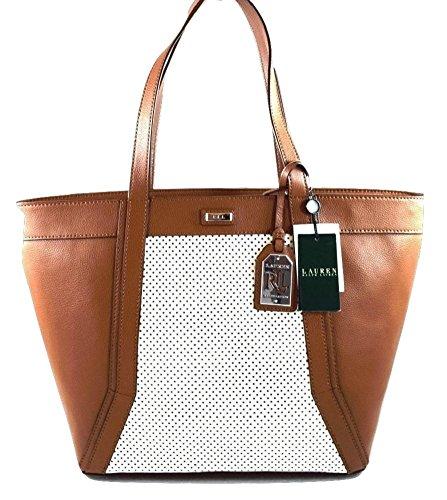 Lauren Ralph Lauren WARREN Leather Classic Tote Shoulder Bag, Lauren Tan