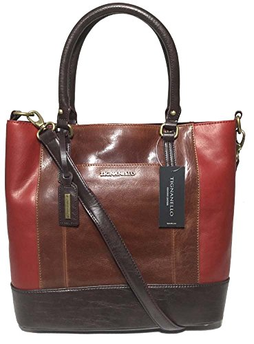 Tignanello Bleecker Street Tote, Walnut/Rouge/Brown, T64415