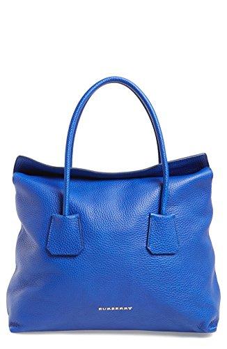 Burberry Women's Brilliant Blue Baynard Grained Leather Top Handle
