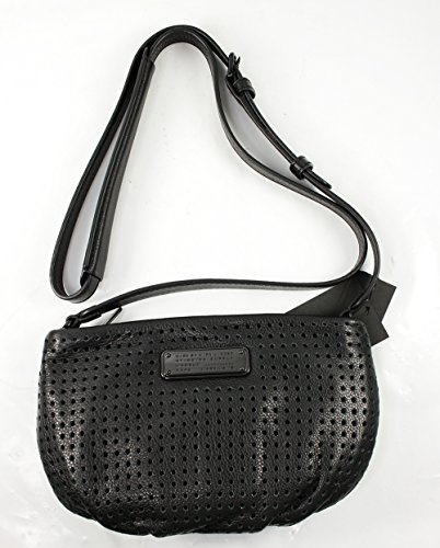 Marc Jacobs New Q Perforated Percy Crossbody in Black