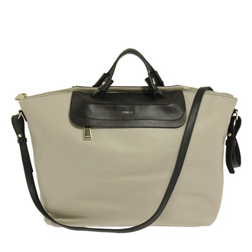 Furla Authentic Beige Leather Handbag Pop Marble, 718132