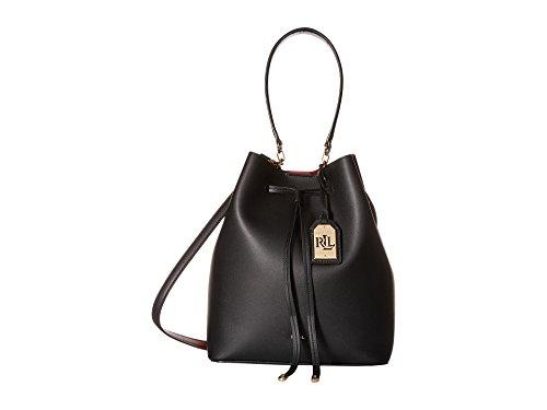 LAUREN Ralph Lauren Dryden Debby Drawstring Black/Crimson Drawstring Handbags