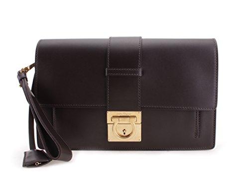 Salvatore Ferragamo Ginny Leather Wristlet Handbag