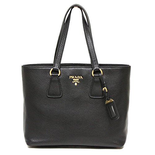 Prada Vitello Phenix Medium Pebbled Leather Shopping Tote Bag Shoulder Handbag Purse 1BG043