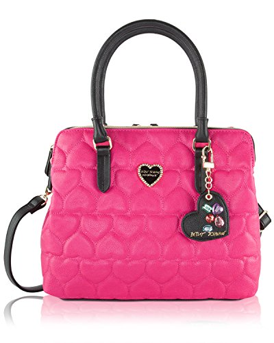 Betsey Johnson Be Mine Multi Compartment Tote Bag – Fushia
