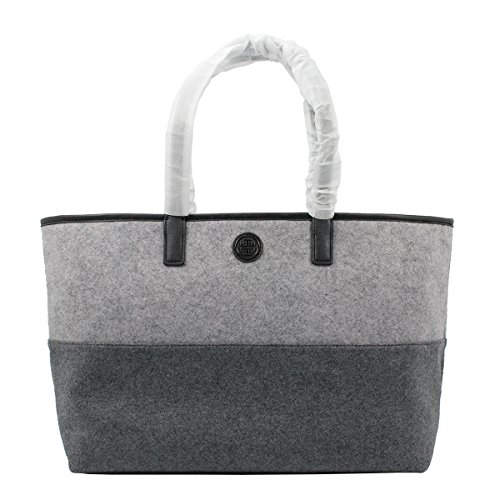 Tory Burch Ashley Shopper Tote, Graphite Gray/Light Gray