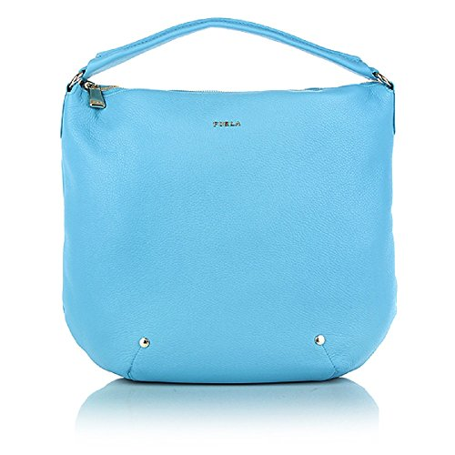Furla Alissa Leather Hobo Bag Atlantic