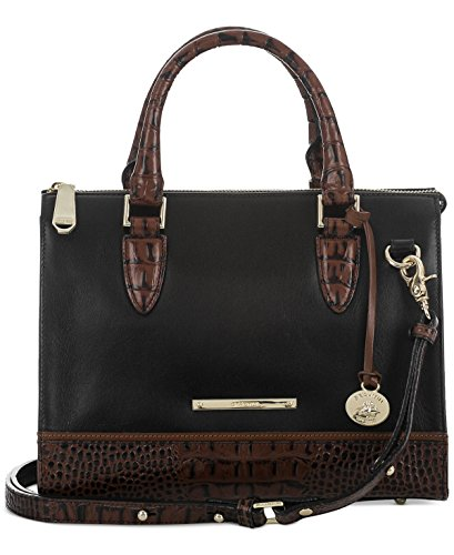 Brahmin Tuscan Tri-Texture Anywhere Convertible Satchel Black