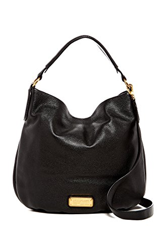 Marc by Marc Jacobs New Q Hillier Leather Hobo Shoulder Bag, Black