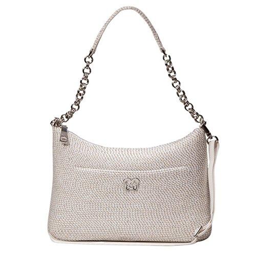 Eric Javits Designer Women's Handbag Powchky Bag Ice