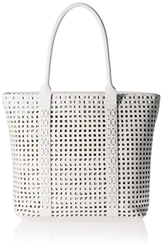 Madden Girl White Perforated Extra Large Tote