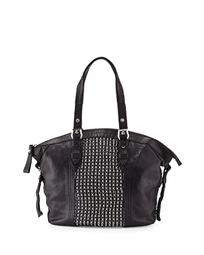 orYANY Betsy Leather Chainmail Tote Bag, Black