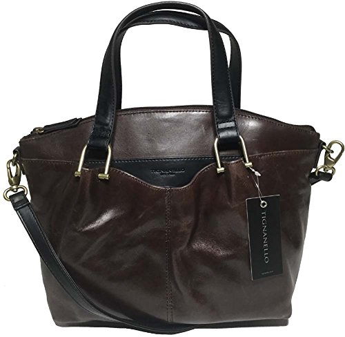 Tignanello Classic Equestrian Satchel, Brown/Black, 68633379