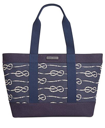 Tommy Hilfiger Daphne Knotted Rope Canvas Tote