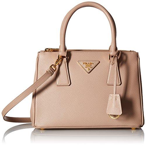 Prada Women's Saffiano Lux Handbag, Camel