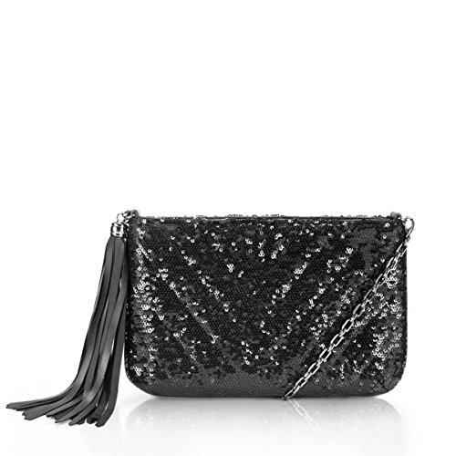 Eric Javits Women's Mimi Handbag (Black Sequin)