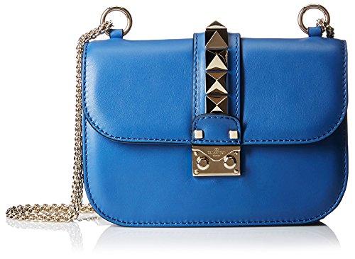Valentino Women's Borsa Small Shoulder Bag, Dark Blue