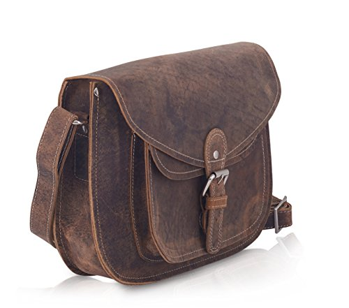KomalC Genuine Leather Purse Saddle Bag Lady Gypsy Satchel Bag
