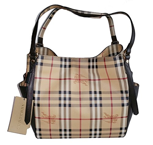 Burberry Haymarket Panel Small Canterbury Tote Bag