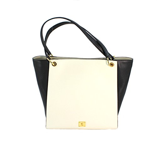 Ralph Lauren Agdon Leather Tote Vanilla/Black MSRP $268.00
