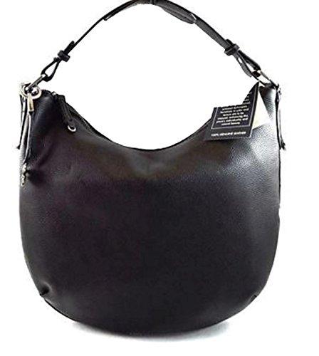 Lucky Brand Joan Black Leather Hobo Handbag