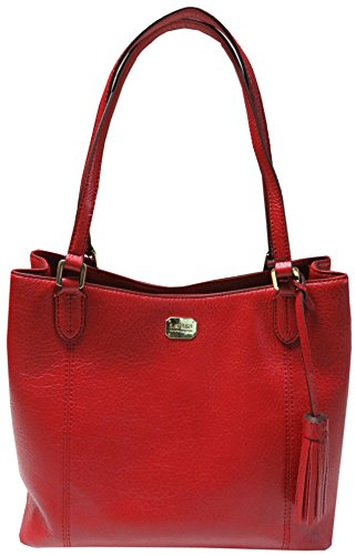 Ralph Lauren Purse Handbag Anaville Carry All Hobo Red
