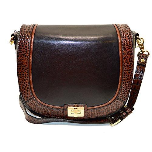 Brahmin Sonny Black Tuscan Crossbody Shoulder bag