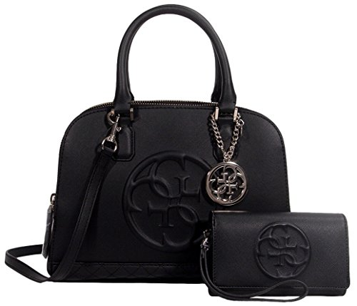 Guess Korry Dome Satchel Bag Handbag + Phone Wallet Set