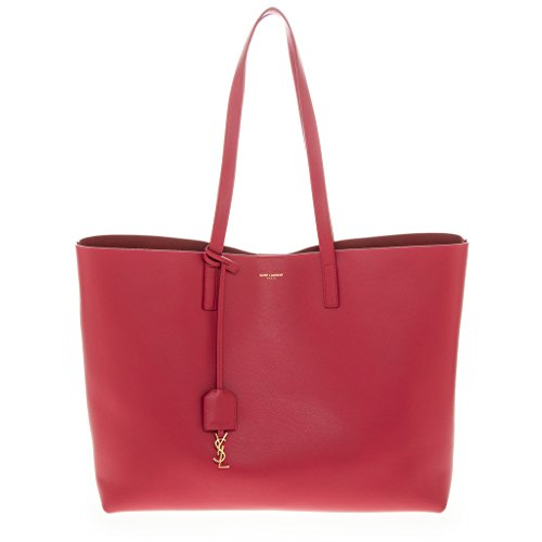 Saint Laurent Women's Large Unstructured Tote with Flat Handles Red