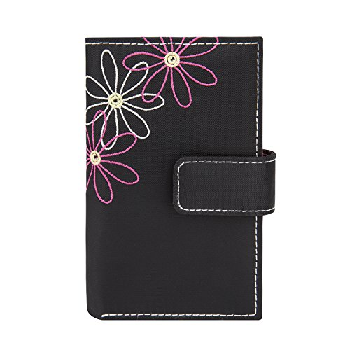 Travelon Safe ID Daisy Tri-Fold Wallet, Black