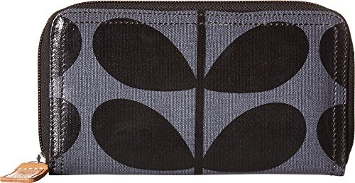 Orla Kiely Womens Large Zip Wallet Midnight