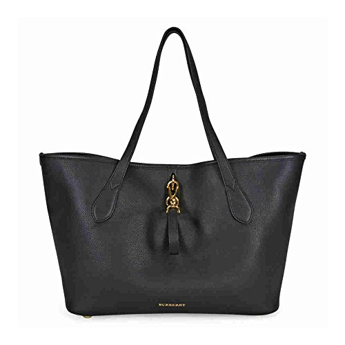 Burberry Medium Grainy Leather Tote Bag – Black