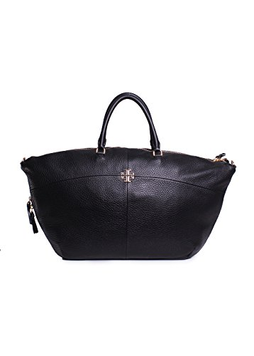 Tory Burch Ivy Slouchy Satchel in Black