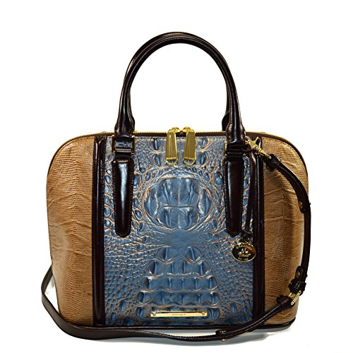 Brahmin Vivian Satchel Satellite Palma Croco emb Leather