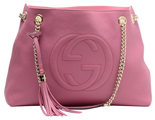 Gucci Soho Leather Chain Shoulder Handbag Dusty Rose
