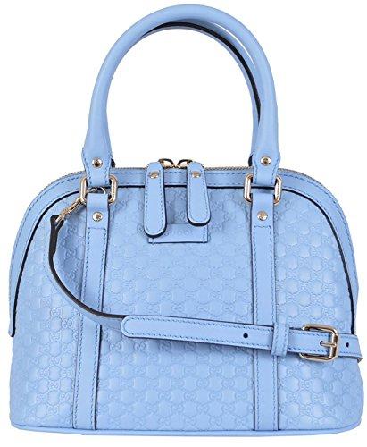 Gucci Women's Micro GG Leather Convertible Mini Dome Purse (Baby Blue)