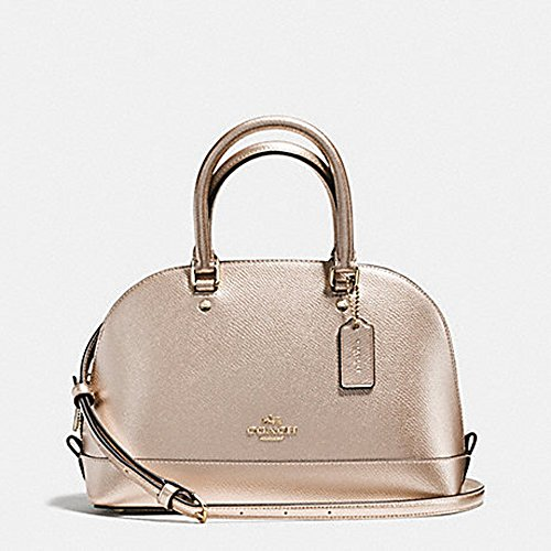 MINI SIERRA SATCHEL IN METALLIC CROSSGRAIN LEATHER