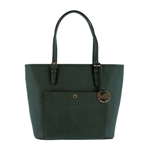 MICHAEL MICHAEL KORS Jet Set Large Saffiano Leather Tote Moss